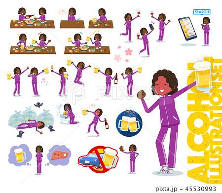 flat black girl purple jersey_alcohol 45530993