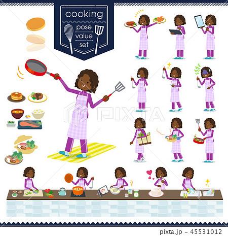 flat black girl purple jersey_cooking 45531012