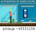 農業 農耕 オートメーションのイラスト 45531156