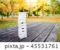 Tower of Wooden Block Stack on the Table in Park 45531761