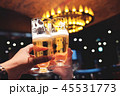 Couple or Friend making Cheers with Glass of Beer 45531773