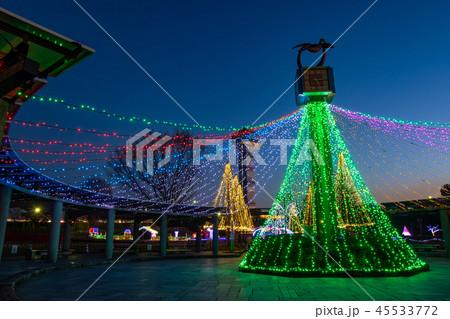 岐阜県 木曽三川公園の夜景 冬のイルミネーション 45533772