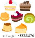 ケーキ、洋生菓子 45533870