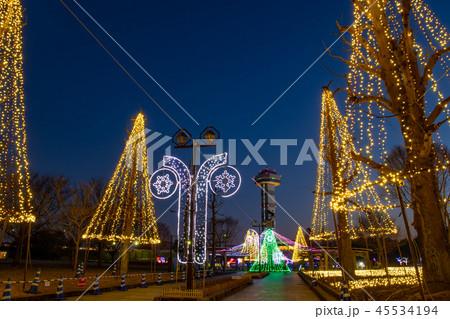 岐阜県 木曽三川公園の夜景 冬のイルミネーション 45534194