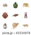 動物 帽子 ハットのイラスト 45534978