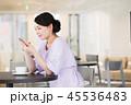 カフェ 女性 若いの写真 45536483