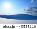 鳥取砂丘 雪 風景の写真 45538110