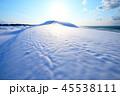 鳥取砂丘 雪 風景の写真 45538111