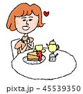 女性 デザート スイーツのイラスト 45539350