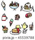 甘いもの デザート 食べ物のイラスト 45539788