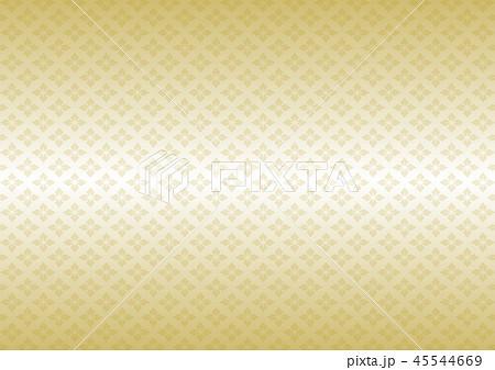 花菱模様 和柄 伝統文様 イラスト 背景 金 グラデーション 45544669