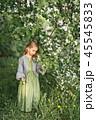 花 女の子 女児の写真 45545833