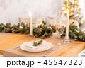 テーブル 家庭 ガラス製の写真 45547323