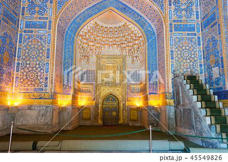 世界遺産ティラカリ・マドラサ レギスタン広場 ウズベキスタン・サマルカンド 45549826