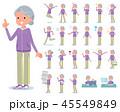 女性 おばあさん シニアのイラスト 45549849