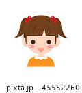 女の子 女性 子供のイラスト 45552260