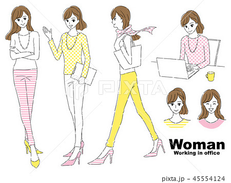 働く女性セット 45554124