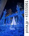クリスマス 風景 ネオンの写真 45555061