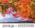 富士山 山 秋の写真 45555590