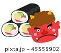 恵方巻 鬼 赤鬼のイラスト 45555902