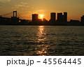 夕日 湾 都会の写真 45564445