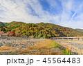 嵐山 紅葉 渡月橋の写真 45564483