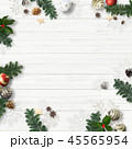 クリスマス 背景 壁のイラスト 45565954