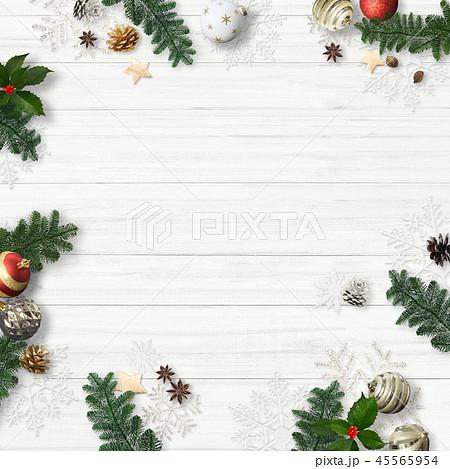 背景-白壁-クリスマス-飾り 45565954