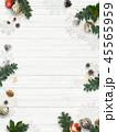 クリスマス 背景 壁のイラスト 45565959