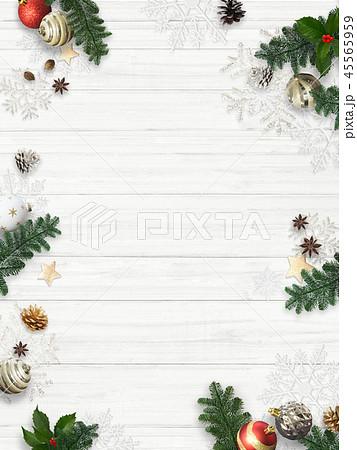 背景-白壁-クリスマス-飾り 45565959