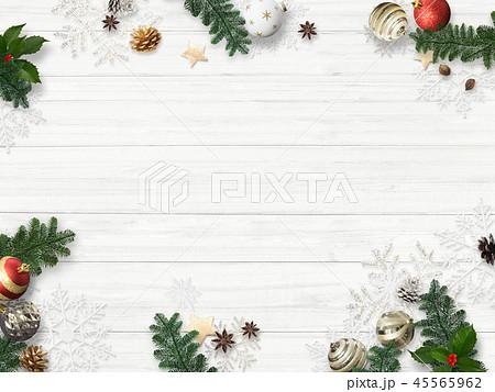 背景-白壁-クリスマス-飾り 45565962