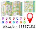 地図 都市 市街のイラスト 45567158