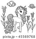 ユニコーン 一角獣 動物のイラスト 45569768