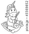 ユニコーン 一角獣 動物のイラスト 45569852