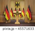 ドイツ 旗 フラッグのイラスト 45571633