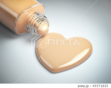Liquid makeup foundation  in form of the heart  45571635
