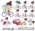 女性 スポーツウエア 自転車のイラスト 45575128