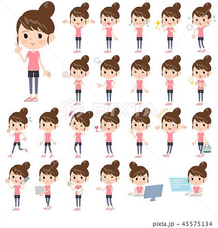 Bun hair mom sportswear_emotion 45575134