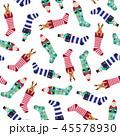 クリスマスの靴下パターン, 45578930