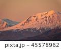 十勝岳望岳台から見た夕日に染まる旭岳 45578962