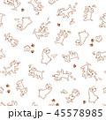 可愛いイヌのパターン 45578985
