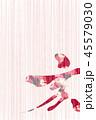 亥 亥年 筆文字のイラスト 45579030