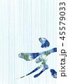 亥 亥年 筆文字のイラスト 45579033