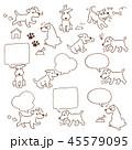 イヌのイラスト 45579095
