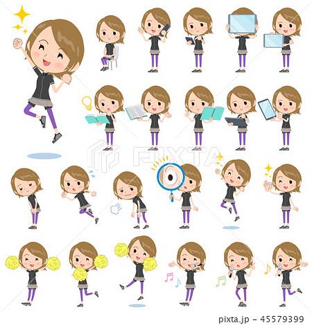 Short hair women Sportswear_Action 45579399