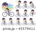 女性 スポーツウエア 自転車のイラスト 45579411