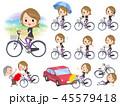 女性 スポーツウエア 自転車のイラスト 45579418