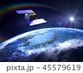 人工衛星 地球 日本 GPS 通信ネットワーク 太陽 45579619