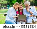 パソコン 老人 年上の写真 45581684