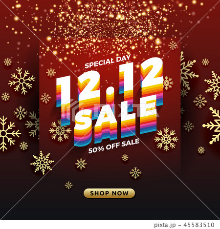 12.12 Shopping day sale banner background. 45583510